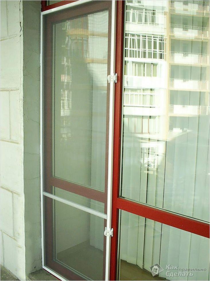 Изготовление москитной сетки на дверь своими руками